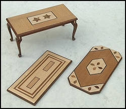 Coffee table veneerd top, 3 models from € 12,50 for