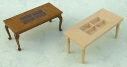 Salontafel vakken, 2 modellen, blank hout, van € 12,50 voor