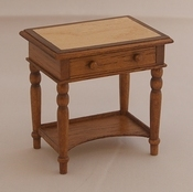English table with veneer top, 55 mm high
