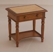 Engels tafeltje met gefineerd bovenblad, 55 mm hoog