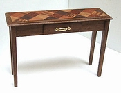 Sidetable with veneer top, 66 mm high