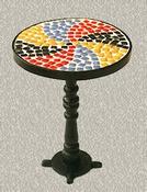 Bistrotafeltje met mozaiek bovenblad (echte steentjes)
