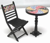Set bistro, 1 tafel met 2 stoelen