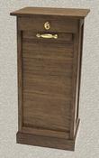 Engels archiefkastje uit 1900 met werkend rolluik