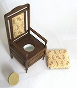 English potty chair from 1850, 90 mm high