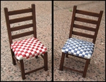 Chair with woven seat, 85 mm high