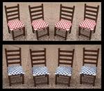 Set van 4 stoelen, 85 mm hoog