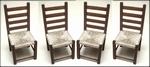 Set van 4 gematte stoelen, 85 mm hoog