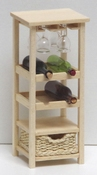 Little wine cabinet without glass, 80 mm height