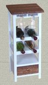Wijnkast met mahoniehouten bovenblad en lade (zonder glas)