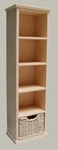 Bookcase with woven basket, 168 mm high
