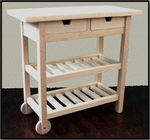 Kitchen trolley, 75 mm high.