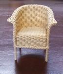 Lloyd Loom chair, 70 mm high