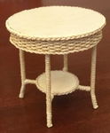 Lloyd Loom table, 62 mm high, diameter 60 mm.