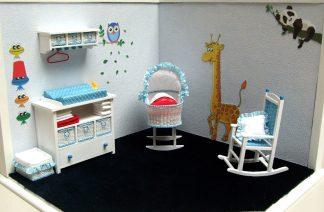Meubeltjes/miniaturen voor een babykamer